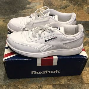 Reebok CL Ace Classic White Leather Tennis Shoes 8